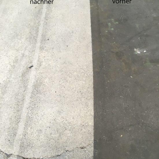 Vorher-Nachher-Vergleich von Kugelstrahlen
